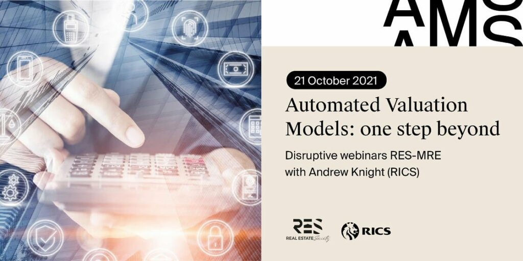 RES-MRE Disruptive Webinar  – Automated Valuation Models
